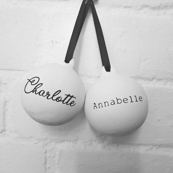Personalised Ceramic Christmas Baubles