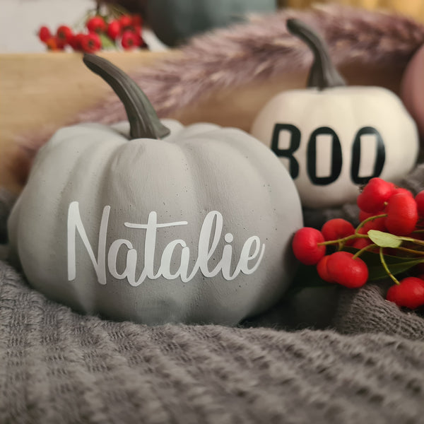 Personalised Mini Artificial Handpainted Pumpkins