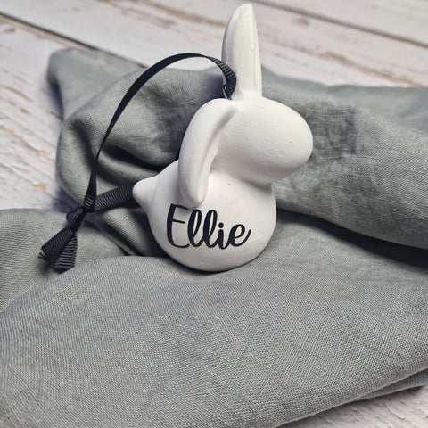 Personalised Ceramic Easter Bunny