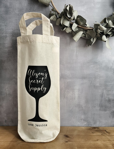 Personalised Bottle Gift Bag