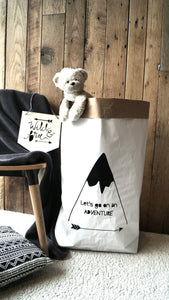 Let's Go On An Adventure Paper Storage Bag