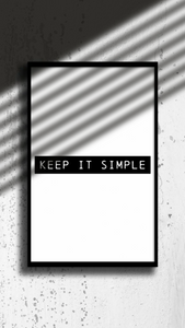 Keep It Simple - wall print