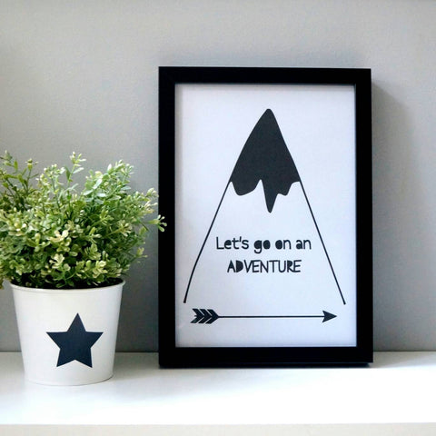 Let's go on an adventure - Wall print