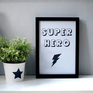 Super Hero Wall print