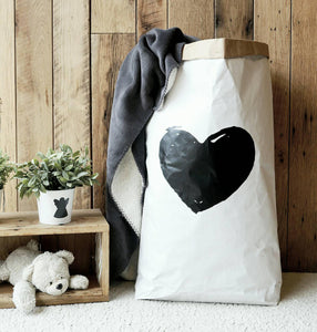 Heart shape - Paper Storage Bag - different colours available