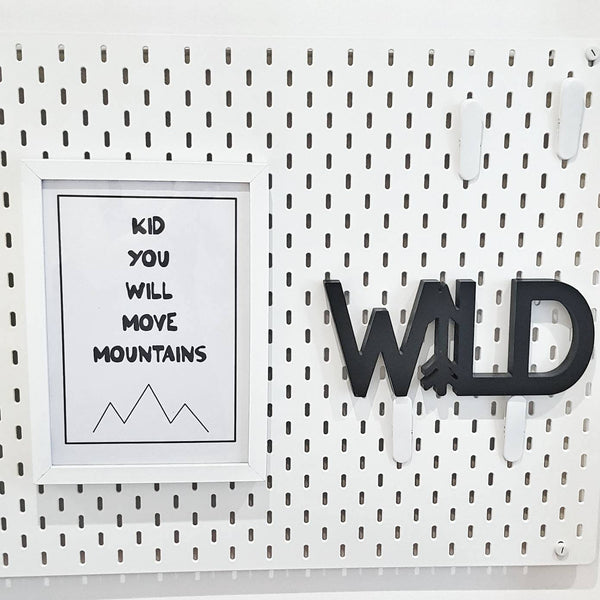 Kid You Will Move Mountain Wall Print