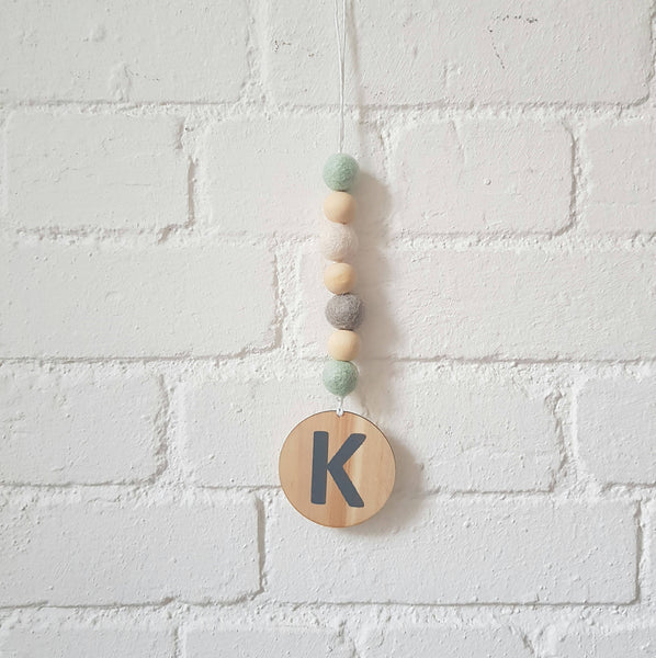 Drop Letter Garland, more colours availble