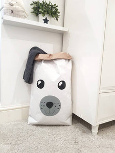 Teddy bear paper toy bag for storing soft toys, blankets, clothes, teddies, toys, magazines and many more! Paper Toy sack/ Storage bag