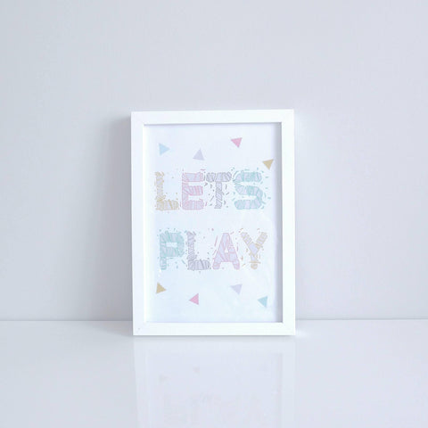 Let's Play Wall Print