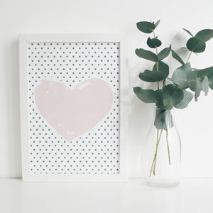 Heart Wall print - 2 different designs