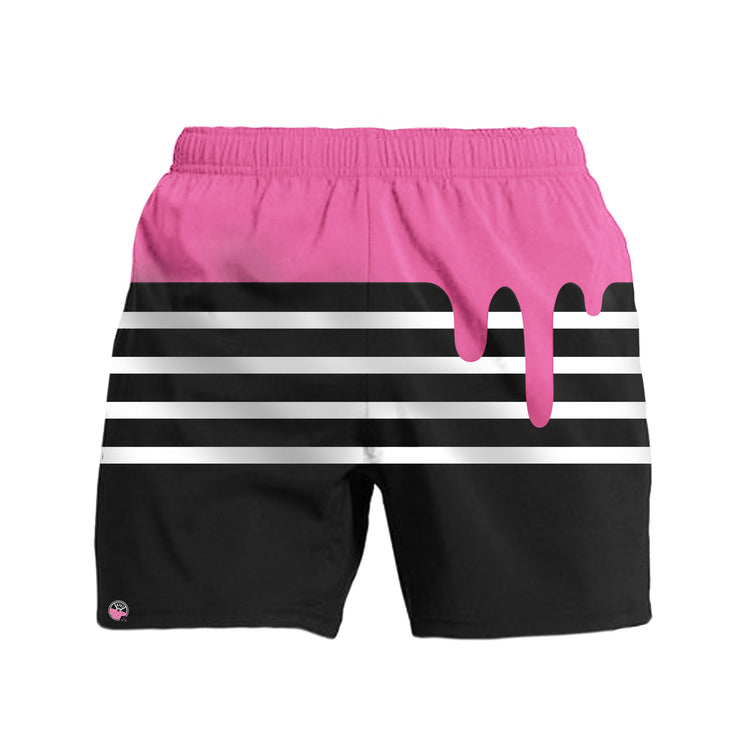 Pink Drip Kinda Fit Kinda Fat Training Shorts