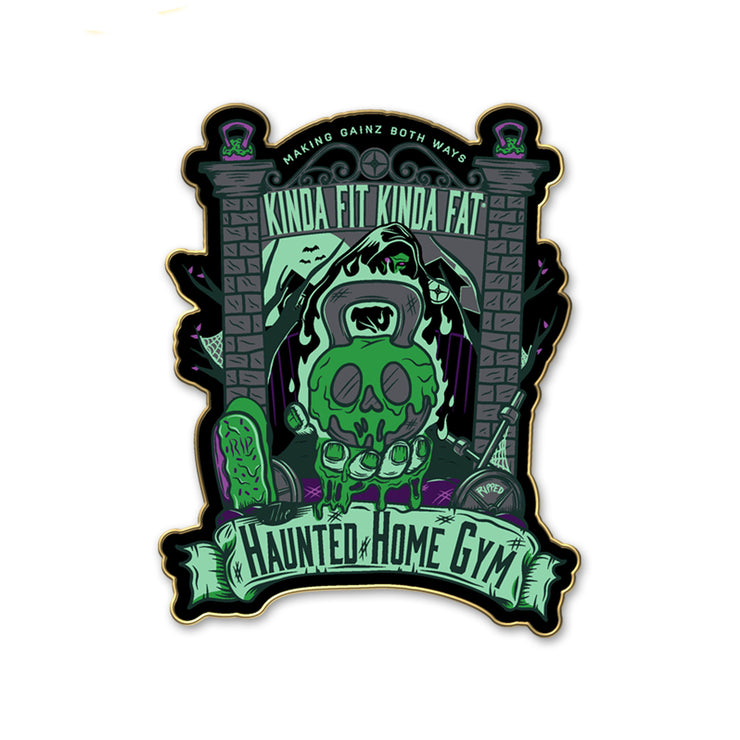 Limited Edition Haunted Home Gym Pin