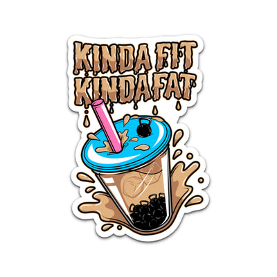 Kinda Fit Kinda Fat Boba Bell V2 Sticker.