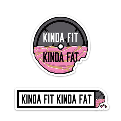 Kinda Fit Kinda Fat Concha Sticker Pack.