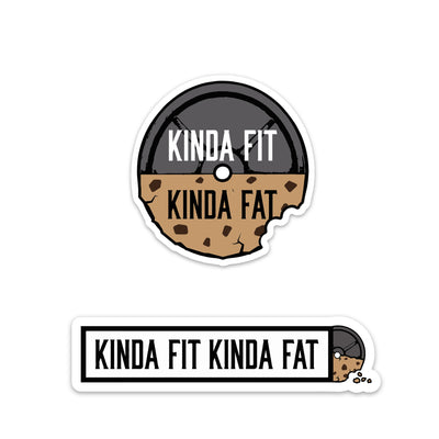 Kinda Fit Kinda Fat Cookie Sticker Pack.