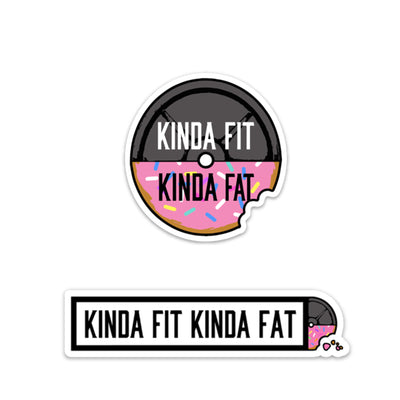 Kinda Fit Kinda Fat Donut Sticker Pack.