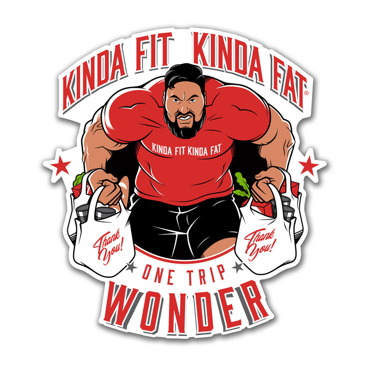 Kinda Fit Kinda Fat One Trip Wonder Eddie Williams inspired sticker.