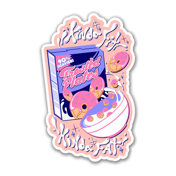 Kinda Fit Kinda Fat Frosted Plates Cereal sticker