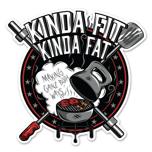 KFKF BBQ Grill Sticker