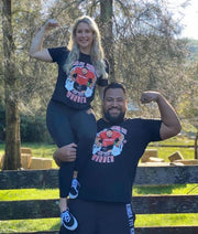 "Eddie Williams Hannah Williams posing in Limited Edition ""One Trip Wonder"" T-Shirt"