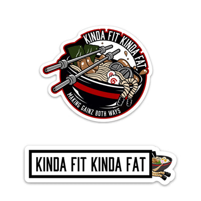 Kinda Fit Kinda Fat Ramen Sticker Pack