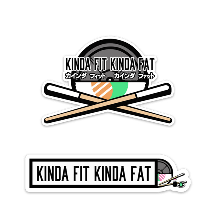 Kinda Fit Kinda Fat Sushi Sticker Pack