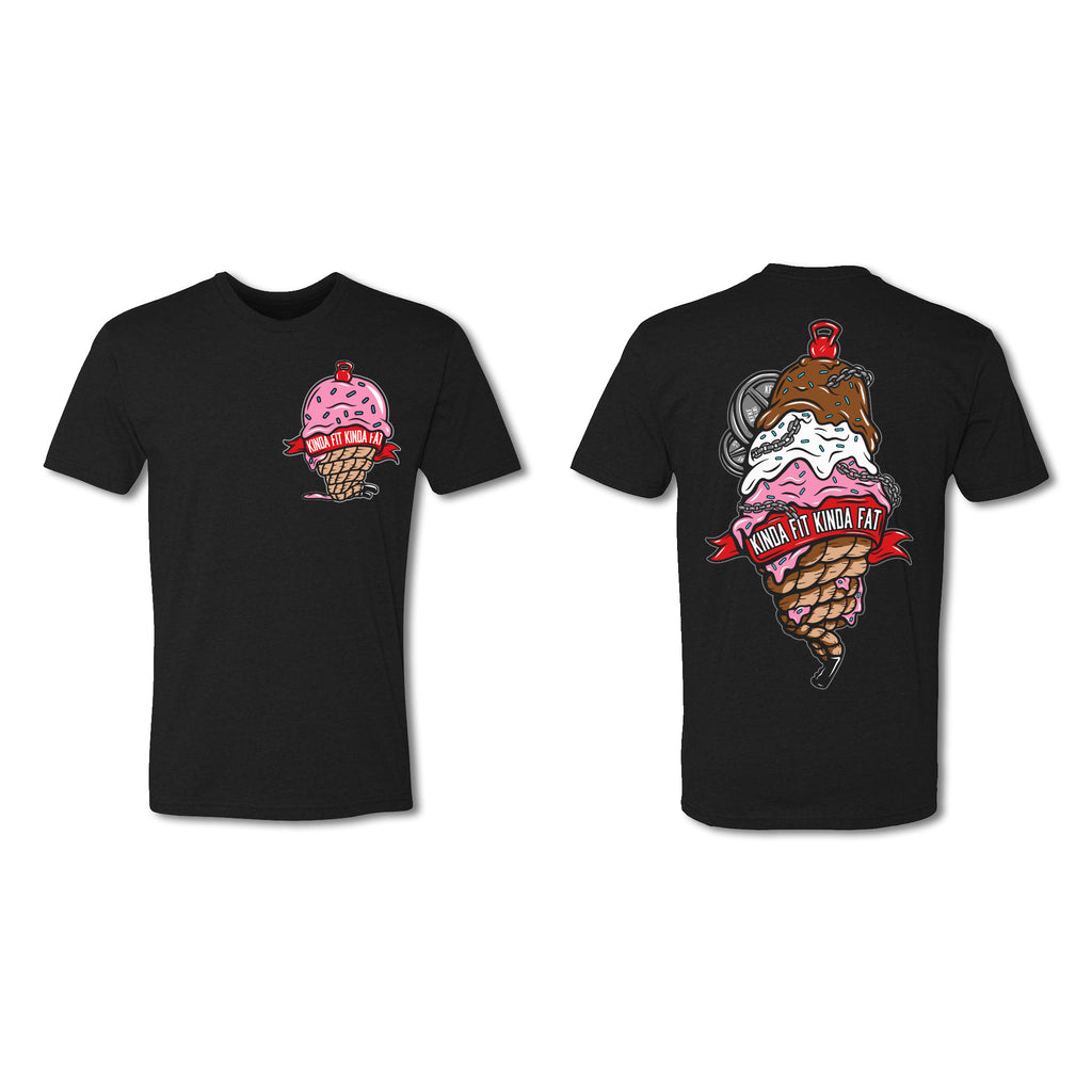 "Black ""Scoops O'Whey"" Ice Cream T-Shirt"