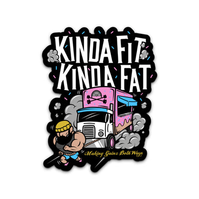 Kinda Fit Kinda Fat Truck Pull Sticker