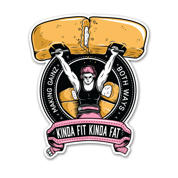 Kinda Fit Kinda Fat Snack Cake Press Sticker