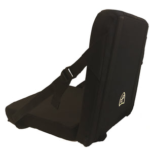 CoverMe-Seat Convertible Bulletproof Vest in Chair Form from the Back