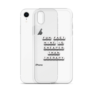 Wine Is Cheaper Than Therapy - iPhone Case