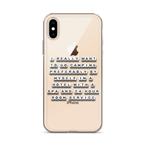 I Want To Go Camping - iPhone Case