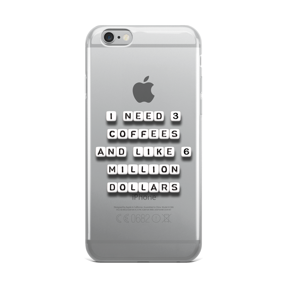 I Need 3 Coffees - iPhone Case