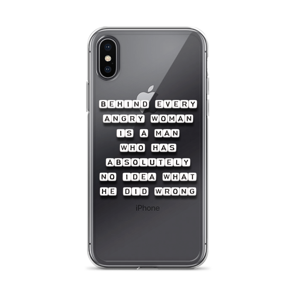 Behind Every Angry Woman - iPhone Case