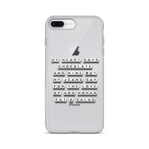 My Heart Says Chocolate and Wine - iPhone Case