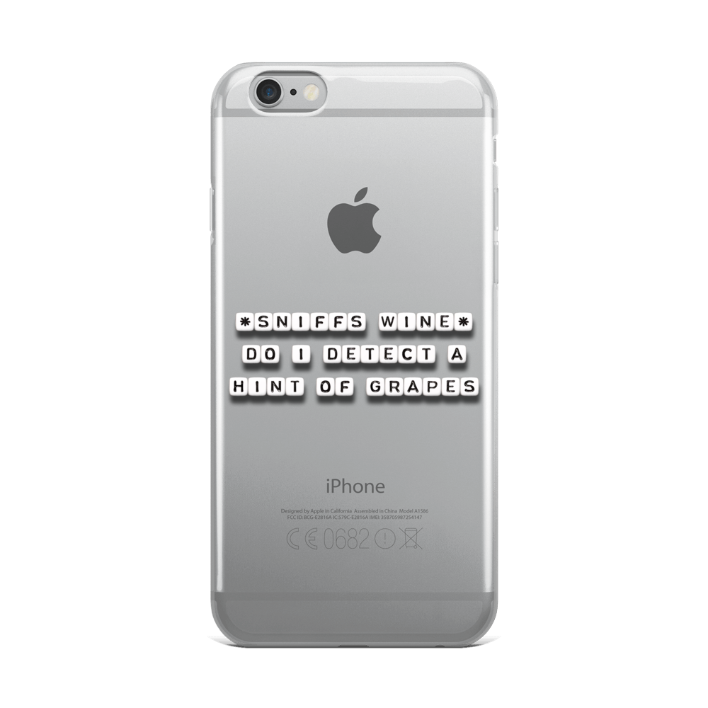 Hint of Grapes - iPhone Case