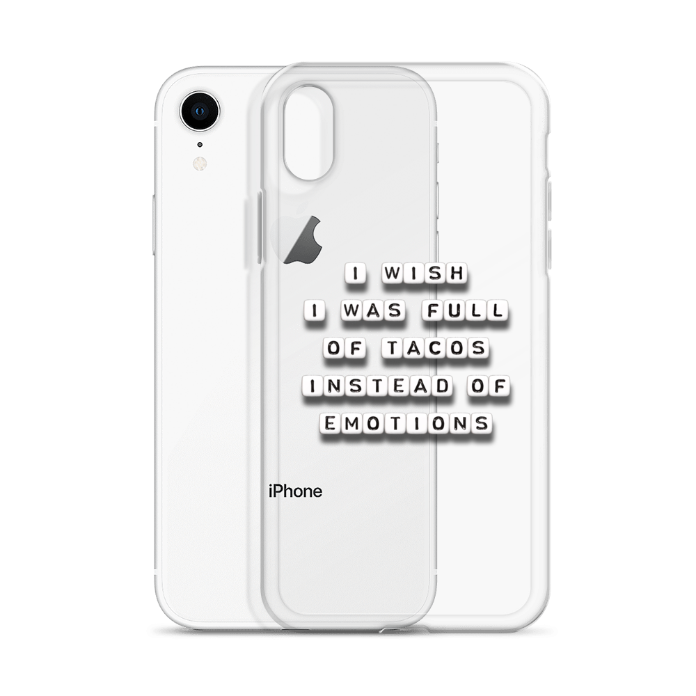 I Wish I Was Full of Tacos - iPhone Case