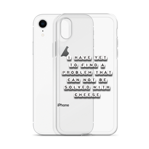 Problem Solved With Cheese - iPhone Case