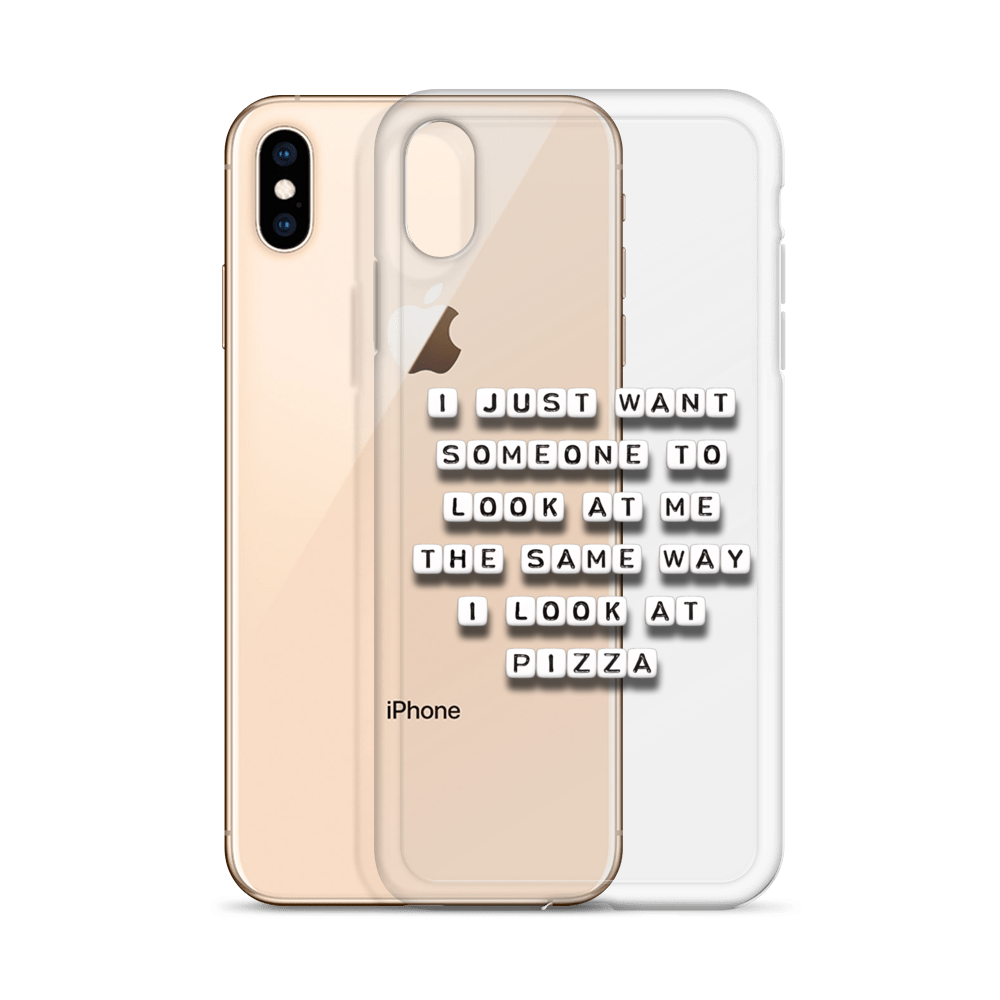 Someone To Look At Me Like Pizza - iPhone Case