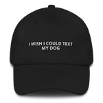 I Wish I Could Text My Dog - Dad hat