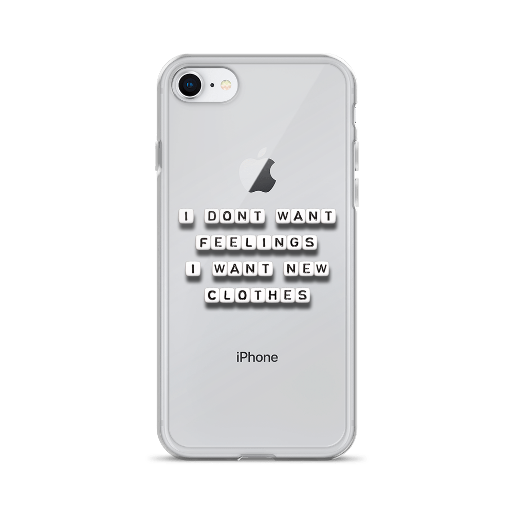I Don't Want Feelings - iPhone Case