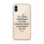 My Love Language Is Cute Pics - iPhone Case
