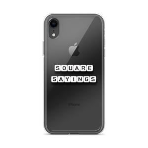 Square Sayings Logo - iPhone Case