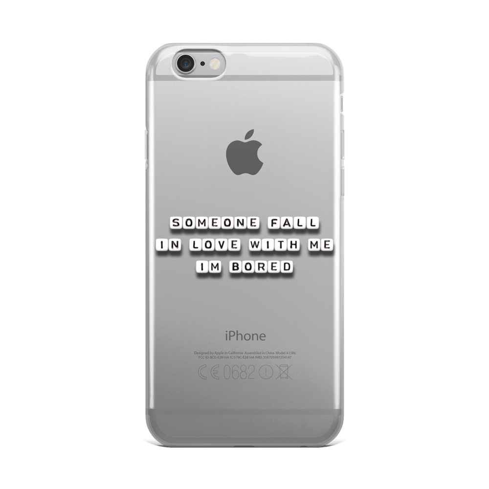 Someone Fall in Love With Me - iPhone Case
