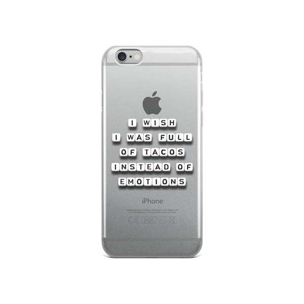 release date: e5e4d 394db I Wish I Was Full of Tacos - iPhone Case – Square Sayings