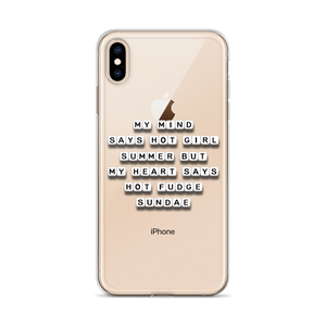 My Mind Says Hot Girl Summer - iPhone Case