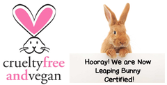Leaping Bunny & PeTA Certified Vegan and Cruelty Free