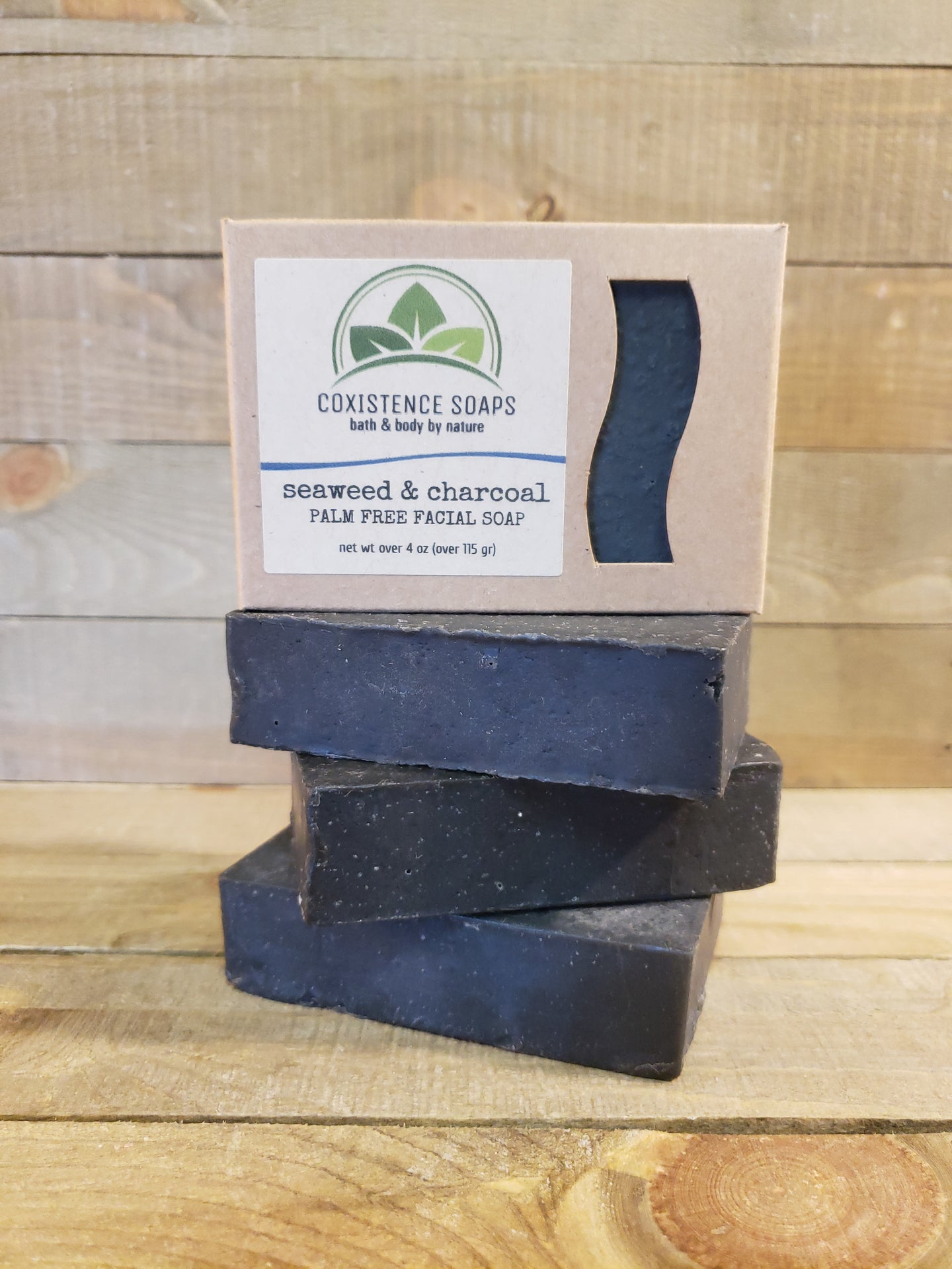 Seaweed & Charcoal (palm free facial soap)