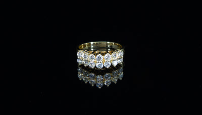 14K Y/G Women's Diamond Ring 1.05ct