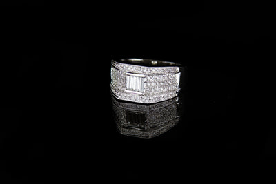 18K W/G Women's Diamond Ring 1.14ct